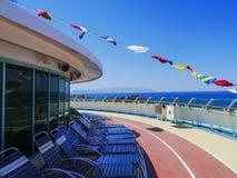 Флаги на палубе Стоковая Фотография RF