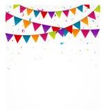 Флаги овсянки дня рождения с confetti бесплатная иллюстрация