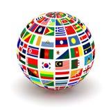 Флаги планеты Стоковые Фотографии RF