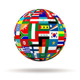 Флаги планеты Стоковое Фото