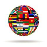 Флаги планеты Стоковая Фотография