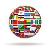 Флаги планеты Стоковые Изображения RF