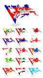 Флаги плохого состояния Азии 2 Стоковое Фото