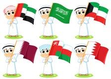 Флаги Совет по сотрудничеству стран Персидского залива Стоковое Изображение RF