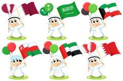 Флаги Совет по сотрудничеству стран Персидского залива Стоковая Фотография RF