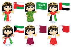 Флаги Совет по сотрудничеству стран Персидского залива Стоковые Фото
