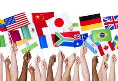 Флаги страны стоковые фотографии rf