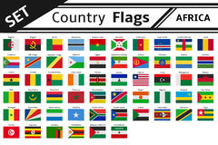 Флаги стран Африка Стоковые Фото