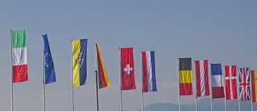 флаги стран различные Стоковые Изображения