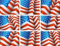 Флаги США Стоковое фото RF