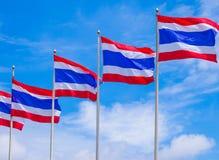 Флаги Таиланда стоковое изображение rf