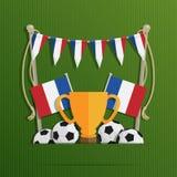 Флаги футбола Франции бесплатная иллюстрация