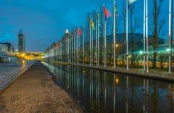 Флаги экспо Лиссабона Стоковое фото RF