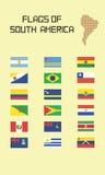 Флаги Южной Америки Стоковые Фото