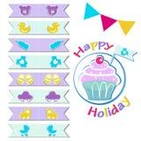 Флаги для пирожных Украшение пирожных бесплатная иллюстрация