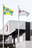 Флаги Leica и города Vila Новы de Famalicao Стоковые Фото