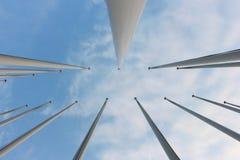 Флагстафф на предпосылке неба Стоковое Изображение RF