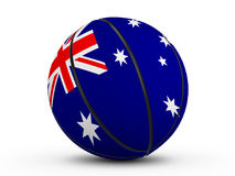 Флаг Австралии шарика баскетбола Стоковая Фотография