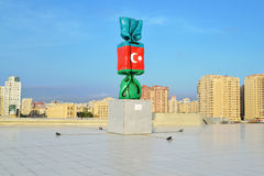Флаг Азербайджана Стоковое фото RF