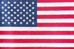 флаг американца близкий вверх стоковое изображение rf