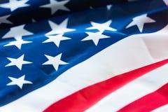 флаг американца близкий вверх стоковые изображения rf