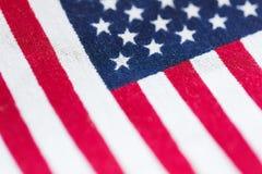 флаг американца близкий вверх стоковое изображение