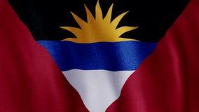 флаг Антигуы barbuda сток-видео