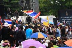 Флаг антипровительственного wigwag протестующего тайский Стоковое Изображение RF