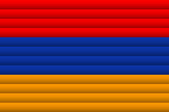 Флаг Армении также вектор иллюстрации притяжки corel иллюстрация вектора