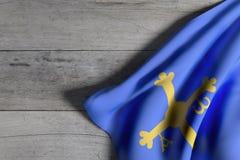 Флаг Астурии на древесине иллюстрация штока
