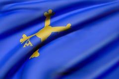 Флаг Астурии иллюстрация вектора