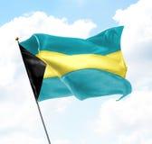 флаг Багам Стоковые Фото
