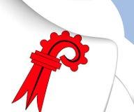Флаг Базеля-Landschaft, Швейцарии Стоковое Фото