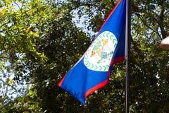 Флаг Белиза стоковое фото rf