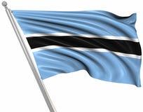 флаг Ботсваны Стоковое Изображение RF