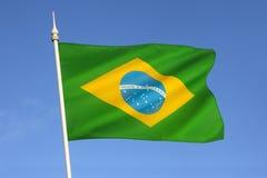 Флаг Бразилии - Южной Америки Стоковые Изображения RF