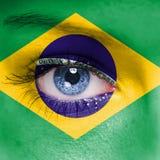 Флаг Бразилии Стоковое фото RF