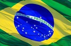 флаг Бразилии Стоковые Изображения