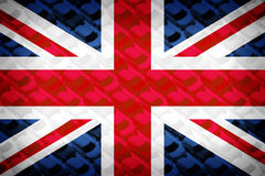 Флаг британцев, малые автомобили, МИНИ Стоковая Фотография RF