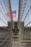Флаг Бруклинского моста стоковые фотографии rf