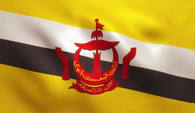 Флаг Брунея Стоковая Фотография RF