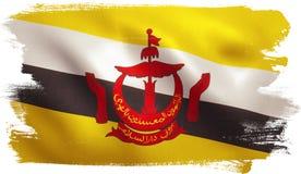 Флаг Брунея Стоковое Фото