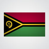 Флаг Вануату на серой предпосылке также вектор иллюстрации притяжки corel бесплатная иллюстрация