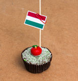 Флаг Венгрии на пирожном Стоковое Изображение