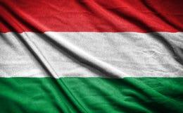 Флаг Венгрии флаг на предпосылке Стоковые Фото