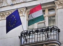 Флаг Венгрии EC Стоковые Изображения