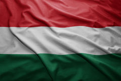 флаг Венгрия Стоковые Изображения
