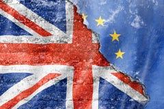 Флаг Великобритании и Европейского союза Стоковые Изображения RF