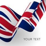 Флаг Великобритании Патриотический дизайн вектор Стоковое Фото