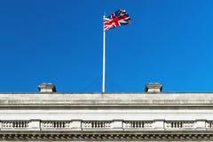 Флаг Великобритании развевая в ветре Стоковое фото RF